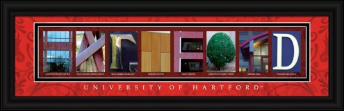 Hartford Hawks Campus Letter Art