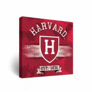 Harvard Crimson Banner Canvas Wall Art