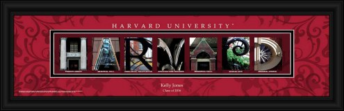 Harvard Crimson Personalized Campus Letter Art