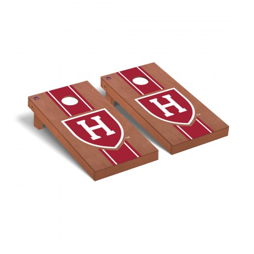 Harvard Crimson Rosewood Stained Stripe Cornhole Game Set