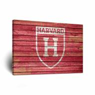 Harvard Crimson Weathered Canvas Wall Art