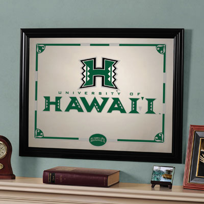 """Hawaii Warriors 23"""" x 18"""" Mirror"""