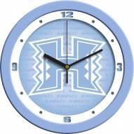 Hawaii Warriors Baby Blue Wall Clock