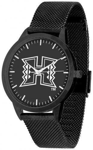 Hawaii Warriors Black Dial Mesh Statement Watch