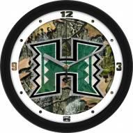 Hawaii Warriors Camo Wall Clock