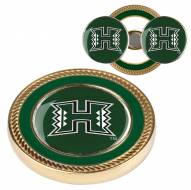 Hawaii Warriors Challenge Coin with 2 Ball Markers