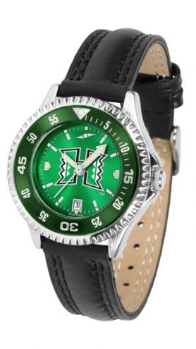 Hawaii Warriors Competitor AnoChrome Women's Watch - Color Bezel