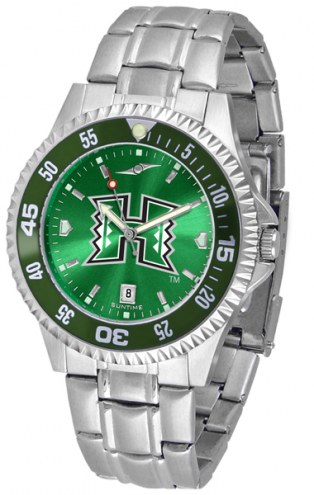 Hawaii Warriors Competitor Steel AnoChrome Color Bezel Men's Watch