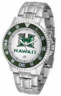 Hawaii Warriors Competitor Steel Men's Watch