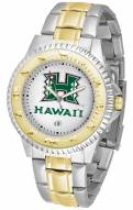 Hawaii Warriors Competitor Two-Tone Men's Watch