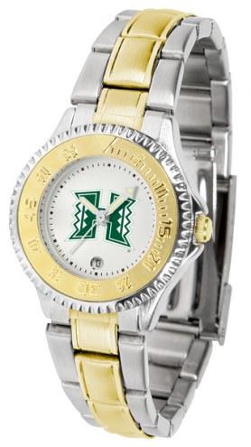 Hawaii Warriors Competitor Two-Tone Women's Watch