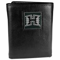 Hawaii Warriors Deluxe Leather Tri-fold Wallet in Gift Box