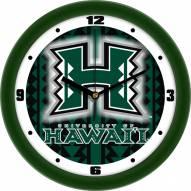 Hawaii Warriors Dimension Wall Clock