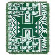 Hawaii Warriors Double Play Woven Throw Blanket