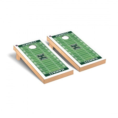 Hawaii Warriors Football Field Cornhole Game Set