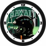 Hawaii Warriors Football Helmet Wall Clock