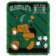Hawaii Warriors Fullback Baby Blanket
