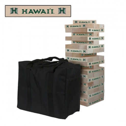 Hawaii Warriors Giant Wooden Tumble Tower Game