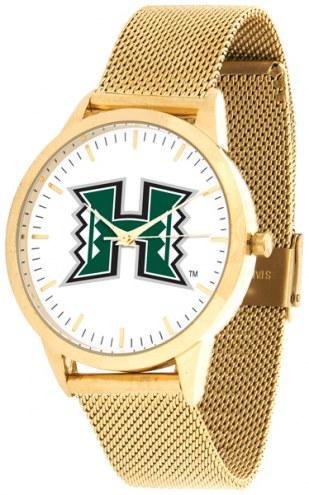 Hawaii Warriors Gold Mesh Statement Watch