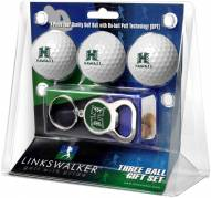 Hawaii Warriors Golf Ball Gift Pack with Key Chain