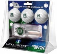 Hawaii Warriors Golf Ball Gift Pack with Kool Tool