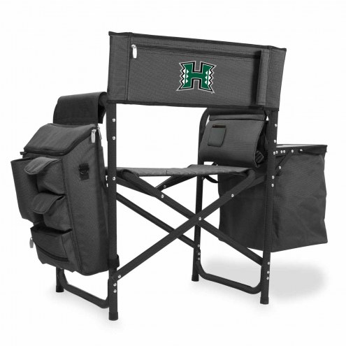 Hawaii Warriors Gray/Black Fusion Folding Chair