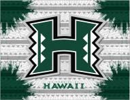 Hawaii Warriors Logo Canvas Print