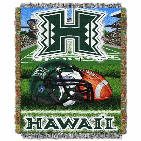 Hawaii Warriors Home Field Advantage Throw Blanket