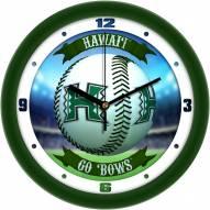 Hawaii Warriors Home Run Wall Clock