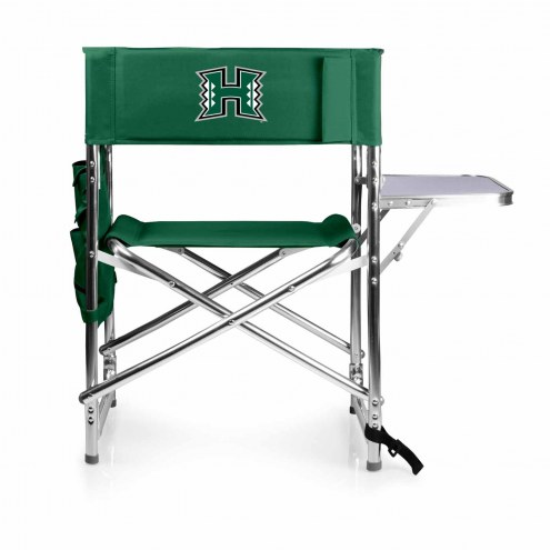 Hawaii Warriors Hunter Green Sports Folding Chair