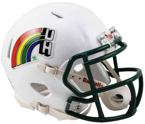 Hawaii Warriors Riddell Speed Mini Collectible Retro Football Helmet