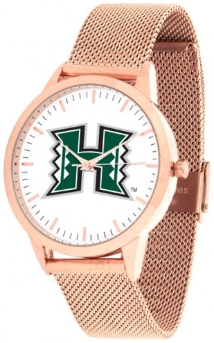 Hawaii Warriors Rose Mesh Statement Watch