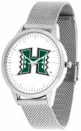 Hawaii Warriors Silver Mesh Statement Watch