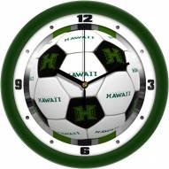 Hawaii Warriors Soccer Wall Clock
