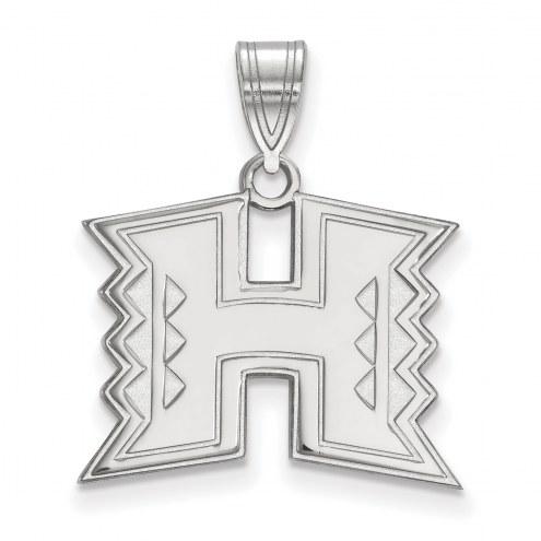 Hawaii Warriors Sterling Silver Medium Pendant