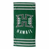 Hawaii Warriors Stripes Beach Towel