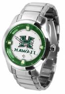 Hawaii Warriors Titan Steel Men's Watch