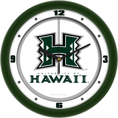 Hawaii Warriors Traditional Wall Clock