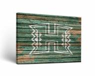 Hawaii Warriors Weathered Canvas Wall Art