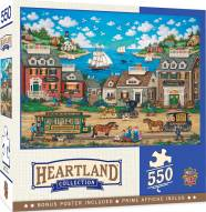 Heartland Collection Oceanside Trolley 550 Piece Puzzle