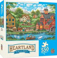 Heartland Collection Swan Pond 550 Piece Puzzle