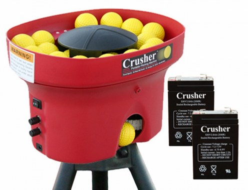 Heater Crusher Curve Mini Lite-Ball Pitching Machine with 8 Hour Batteries