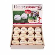 Heater Fireballs Top Grain Leather Pitching Machine Baseballs
