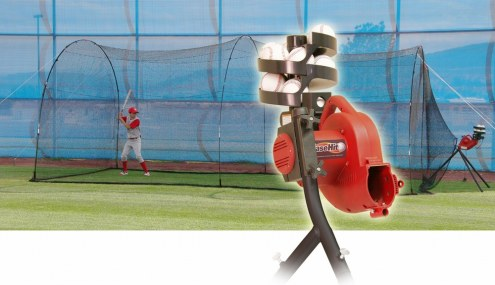 Heater Power Alley Baseball Batting Cage and Base Hit Pitching Machine