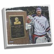 Henrik Lundqvist Signed with Babe Ruth Monument 22x26 Canvas (Signed in Gold)