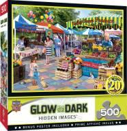 Hidden Images Glow In The Dark Corner Market 500 Piece Puzzle