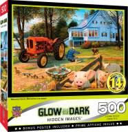 Hidden Images Glow In The Dark Welcome Home 500 Piece Puzzle