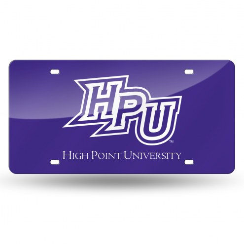 High Point Panthers Laser Cut License Plate