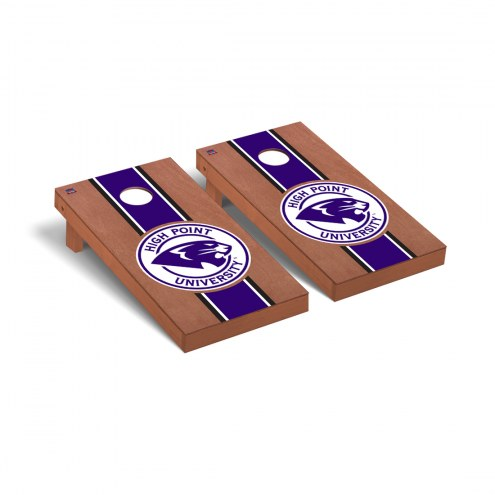 High Point Panthers Rosewood Stained Stripe Cornhole Game Set