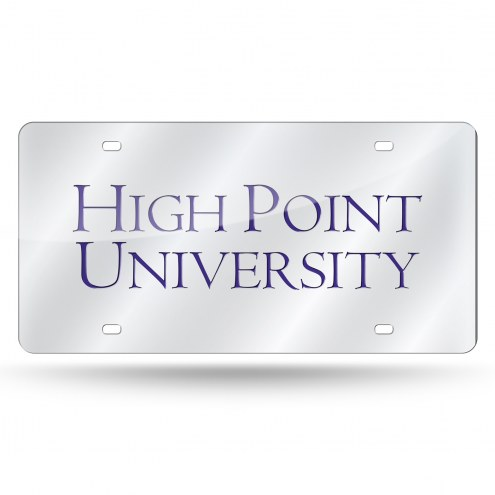 High Point Panthers Silver Laser Cut License Plate